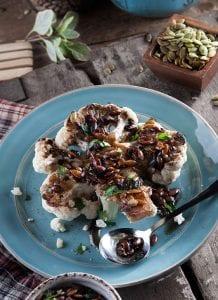 Grassland Roasted Cauliflower With Pumpkin Seed Dressing