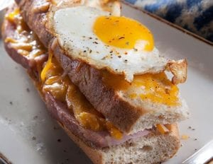 Croque Madame With Eggs