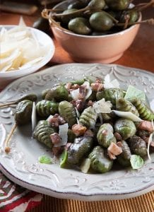 Grassland Butter Oyster Mushroom Sauce Over Spinach Gnocchi