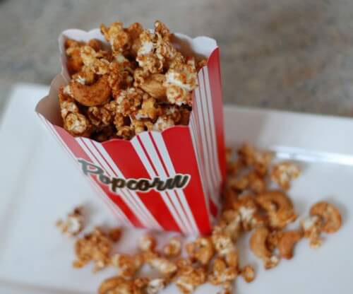Cinnamon Glazed Popcorn Mix