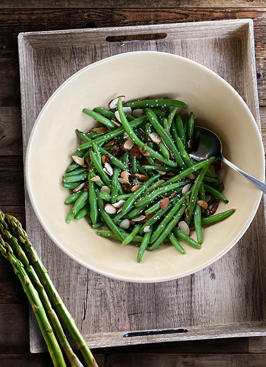 BROWN BUTTER FRENCH BEANS AMANDINE
