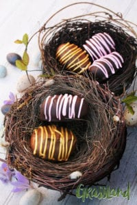 No Bake Chocolate Cookie Easter Eggs