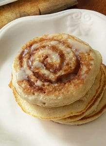 Glazed Cinnamon Roll Pancakes