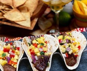 Pineapple Salsa Summer Steak Tacos