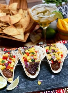 Pineapple Salsa Summer Steak Tacos