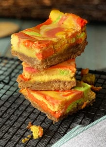 Natural Tie Dye Cheesecake Bars