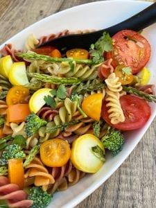 Rainbow Garlic Butter Veggie Rotini