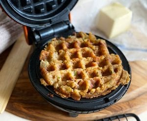 Leftovers Stuffing Waffles